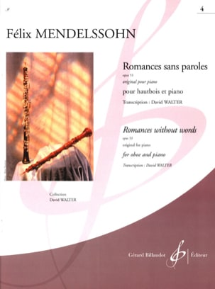 MENDELSSOHN - Romances Sans Paroles Opus 53 Vol.4 - Partition - di-arezzo.fr