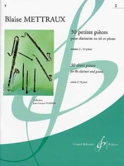 Blaise Mettraux - 30 Small Parts - Volume 2 - Sheet Music - di-arezzo.co.uk