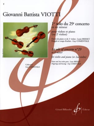 Giovanni Battista Viotti - 1st Solo of Concerto No. 29 in E minor - Sheet Music - di-arezzo.com
