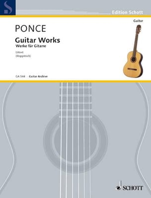 Guitar Works Manuel Maria Ponce Partition Guitare - laflutedepan