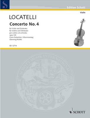Pietro Antonio Locatelli - Violin Concerto op. 3 n ° 4 in E major - Sheet Music - di-arezzo.com