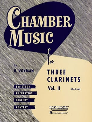 H. Voxman - Chamber Music clarinets trios vol 2 medium - Sheet Music - di-arezzo.co.uk