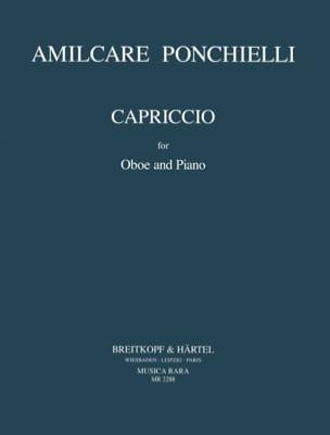 Capriccio -Oboe piano Amilcare Ponchielli Partition laflutedepan