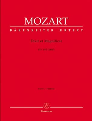 Dixit et Magnificat KV 193 -Partitur - MOZART - laflutedepan.com