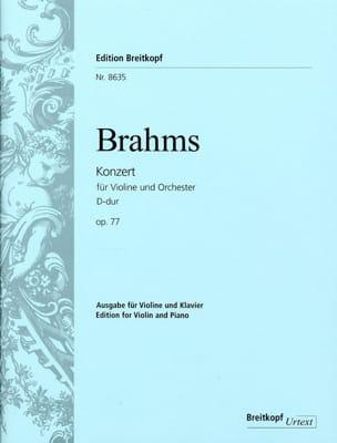 BRAHMS - Concerto Pour Violon Opus 77 Ré Majeur - Partition - di-arezzo.fr