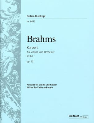 BRAHMS - Violin Concerto Opus 77 D Major - Sheet Music - di-arezzo.co.uk