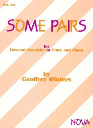 Geoffrey Winters - Some Pairs - Flûte à bec et piano - Partition - di-arezzo.fr