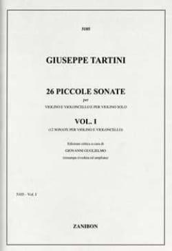 Giuseppe Tartini - 26 Piccole Sonate – Volume 1 - Partition - di-arezzo.fr