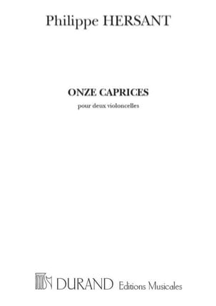 Philippe Hersant - 11 Caprices - Sheet Music - di-arezzo.co.uk