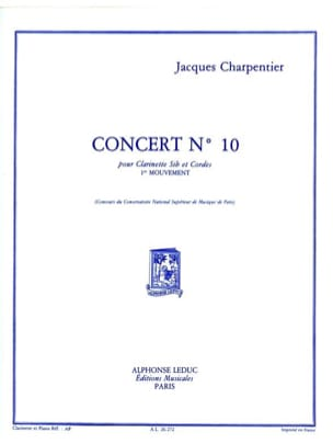 Jacques Charpentier - Concert n° 10 pour clarinette - 1er mouvement - Partition - di-arezzo.fr