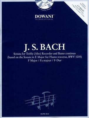 Johann Sebastian Bach - Sonate en fa maj. BWV 1035 –Treble recorder Bc - Partition - di-arezzo.fr