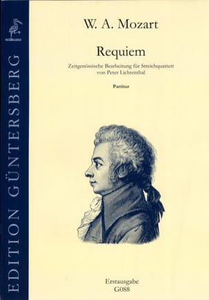 Mozart Wolfgang Amadeus / Lichtenthal Peter - Requiem KV 626 - string quartet - conductor - Sheet Music - di-arezzo.co.uk