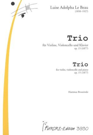 Trio op.15 -Violine Cello Klavier Beau Louise Adolpha Le laflutedepan
