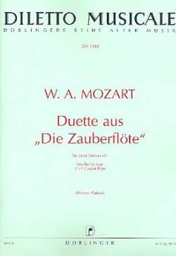 Wolfgang Amadeus Mozart - Duette aus Die Zauberflöte - Partition - di-arezzo.fr