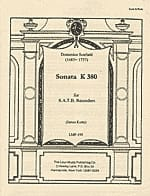 Domenico Scarlatti - Sonate K 380 - Partition - di-arezzo.fr