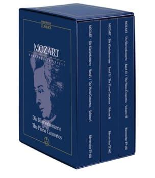 Wolfgang Amadeus Mozart - Intégrale des Concertos Pour Piano et Orchestre - Coffret 3 Volumes - Partition - di-arezzo.fr