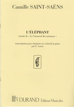 l'Eléphant - SAINT-SAËNS - Partition - Clarinette - laflutedepan.com