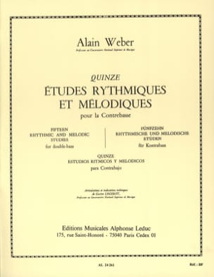 Alain Weber - Rhythmic and Melodic Studies - Sheet Music - di-arezzo.co.uk
