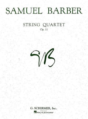 String quartet op. 11 - Parts BARBER Partition Quatuors - laflutedepan