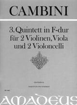 Quintett Nr. 3 in F-Dur - Partitur + Stimmen laflutedepan