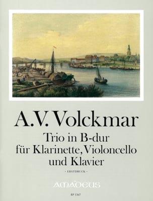 Adam Valentin Volckmar - Trio in B-Dur majeur –Klarinette, VIoloncello und Klavier - Partition - di-arezzo.fr