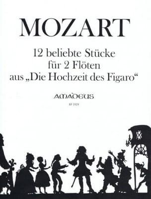 MOZART - 12 Beliebte Stücke (Die Hochzeit des Figaro - 2 Flöten - Partition - di-arezzo.fr