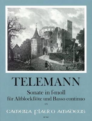 Sonate f-moll - Altblockflote u. Bc - TELEMANN - laflutedepan.com