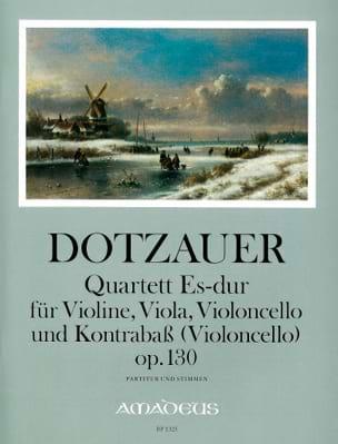 Friedrich Dotzauer - Quartett Es-Dur op. 130 –Partitur + Stimmen - Partition - di-arezzo.fr