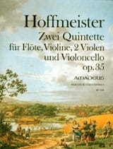 Franz Anton Hoffmeister - 2 Quintettes Op. 35 - flute Violine 2 Violen Cello - Sheet Music - di-arezzo.co.uk