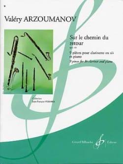 Valéry Arzoumanov - Sur le chemin du retour op. 163 - Partition - di-arezzo.fr
