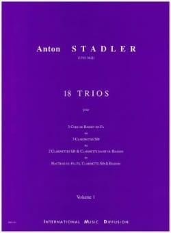 18 Trios Vol 1 Anton Stadler Partition Clarinette - laflutedepan