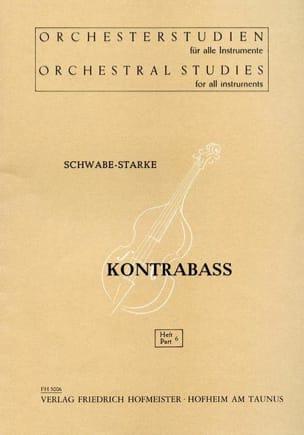 Orchesterstudien - Heft 6 - Kontrabass Schwabe-Starke laflutedepan