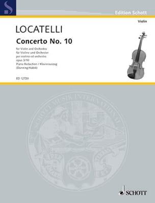 Pietro Antonio Locatelli - Concerto Violon op. 3 n° 10 en fa majeur - Partition - di-arezzo.fr