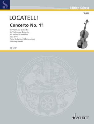 Pietro Antonio Locatelli - Concerto Violon op. 3 n° 11 en la majeur - Partition - di-arezzo.fr