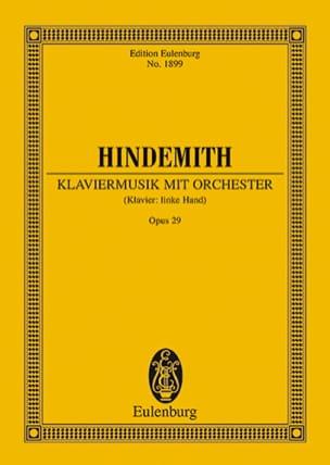 Paul Hindemith - Klaviermusik mit Orchester op. 29 - Partitur - Sheet Music - di-arezzo.com