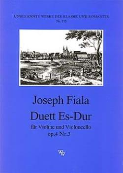 Duo en mib majeur op. 4 n° 3 Joseph Fiala Partition 0 - laflutedepan