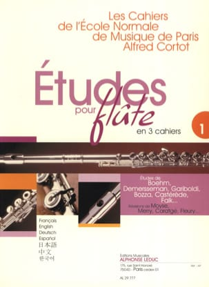 Studies for flute - Volume 1 Cahiers of the Normal School - Partition - di-arezzo.co.uk