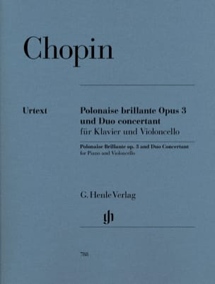 CHOPIN - Polish brilliant op. 3 and Concerto Duo for Piano and Cello - Sheet Music - di-arezzo.co.uk