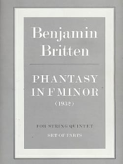 Phantasy in F minor - Parts Benjamin Britten Partition laflutedepan