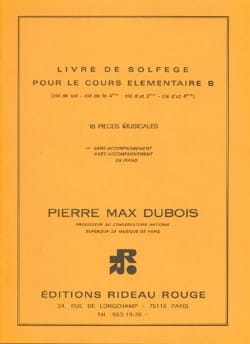 Pierre-Max Dubois - Book of solfège élém. B - 4 keys without acc. - Sheet Music - di-arezzo.co.uk