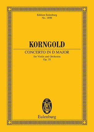 KORNGOLD - Concerto for Violin and Orchestra in D Major Opus 35 - Sheet Music - di-arezzo.co.uk