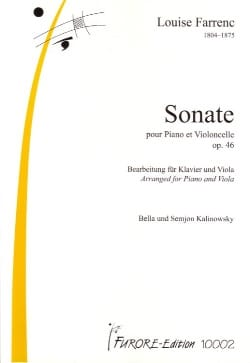 Louise Farrenc - Sonate Opus 46 - Partition - di-arezzo.fr