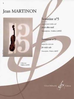 Jean Martinon - Sonatine n° 5 op. 32 n° 1 - Partition - di-arezzo.fr