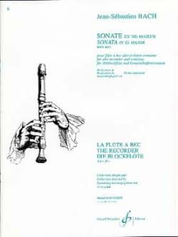 Sonate en mib majeur BWV 1033 -flûte à bec - BACH - laflutedepan.com