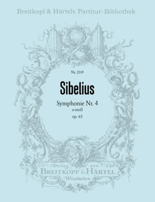 Jean Sibelius - Symphonie n° 4 a-moll op. 63 – Partitur - Partition - di-arezzo.fr