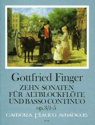 Gottfried Finger - 10 Sonaten op. 3 - Heft 1 1-5 - Altblockflöte u. Bc - Sheet Music - di-arezzo.co.uk