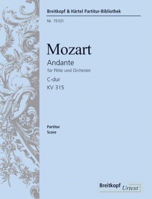 MOZART - Andante C-Dur für Flöte und Orch. KV 315 - Partitur - Partition - di-arezzo.fr