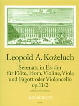 Leopold Anton Kozeluch - Serenata in Es-Dur op. 11 Nr. 2 - Partitur Stimmen - Sheet Music - di-arezzo.com