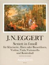 Joachim Nikolas Eggert - Sextett in f-moll - Partitur + Stimmen - Partition - di-arezzo.fr