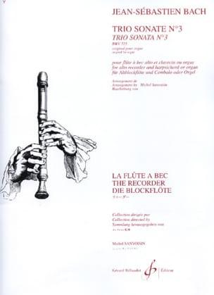 BACH - Trio Sonate n° 3 BWV 525 - flûte à bec clav. - Partition - di-arezzo.fr